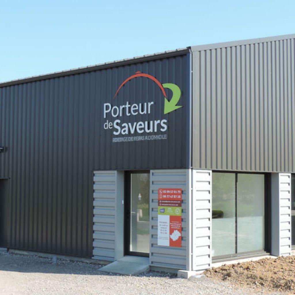 Porte entrée des locaux de l'entreprise Porteur de Saveur